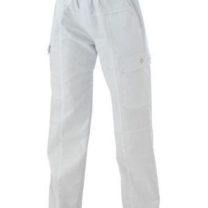 Pantalon de cuisine GUY Blanc