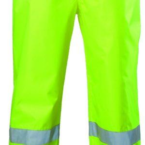 Pantalon de pluie Haute Visibilité - Double bandes rétro-réfléchissantes