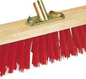 Balai cantonnier rouge PVC 33 cm