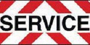 "Plaque ""SERVICE"" classe 2 autocollante"