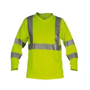 Tee shirt manches longues Haute Visibilité - Bandes rétro-réfléchissantes