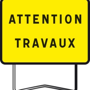Panneau de signalisation type KC indication temporaire