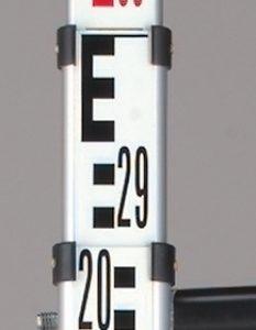Mire aluminium 5m télescopique