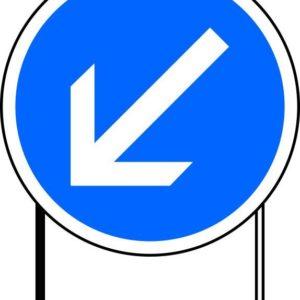 Panneau de signalisation type BK 1000/850 mm prescription et fin de prescription