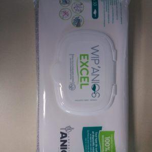 Pack de 50 lingettes Antiseptique Anti-Bacteries