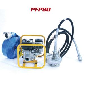 Pompe à eau à câble équipée 72 m3/h - 5m PFP80 Honda