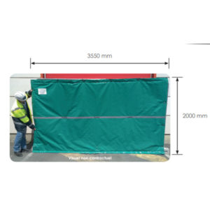 Bâches acoustiques pour barrières mobile de chantier Heras